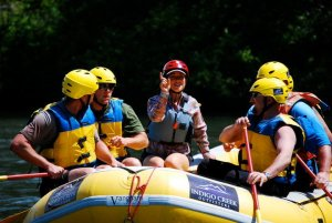 Rogue River rafters receive some paddling instructions from Indigo Creek Outfitters' guide Carol Lesser.